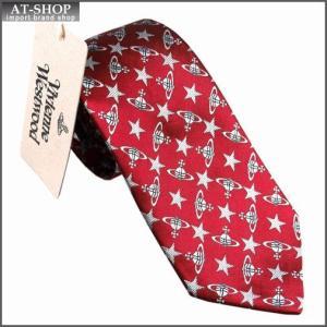 Vivienne Westwood ヴィヴィアン・ウェストウッド ネクタイ スリム約7cm オーブ柄 10041-CS-H246 RED slim|at-shop