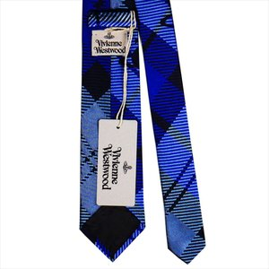 Vivienne Westwood ヴィヴィアン・ウェストウッド ネクタイ スリム7cm チェック柄 10598-K201-BLUE slim|at-shop|03