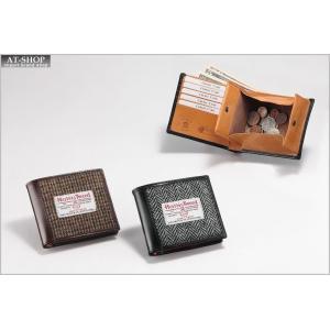 BRITISH GREEN ブリティシュグリーン 二つ折り財布 ハリス ブライドル 10610015 グレー|at-shop