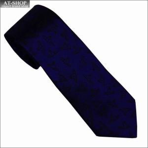 Vivienne Westwood ヴィヴィアン・ウェストウッド ネクタイ スリム7cm オーヴ柄 10611-K202-BLUE slim|at-shop