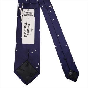 Vivienne Westwood ヴィヴィアン・ウェストウッド ネクタイ 8.5cm ドット柄 11129-K202-NAVYBLUE|at-shop|03