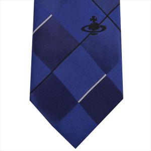 Vivienne Westwood ヴィヴィアン・ウェストウッド ネクタイ 8.5cm チェック柄 11133-K202-NAVY BLUE|at-shop|02