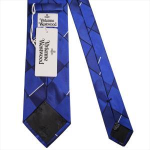 Vivienne Westwood ヴィヴィアン・ウェストウッド ネクタイ 8.5cm チェック柄 11133-K202-NAVY BLUE|at-shop|03