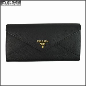 PRADA プラダ 財布サイフ 1MH037 F0002 NERO 2E3K パスケース付き二つ折り長財布 ブラック|at-shop