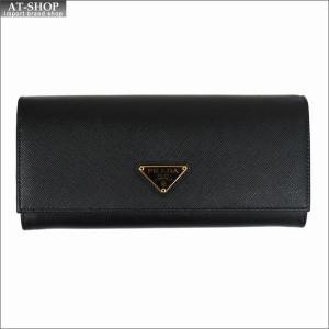 PRADA プラダ 財布サイフ サフィアーノ パスケース付き 二つ折り長財布 ブラック/ゴールド 1MH132 F0002 NERO QHH SAFFIANO TRIANGOLO|at-shop