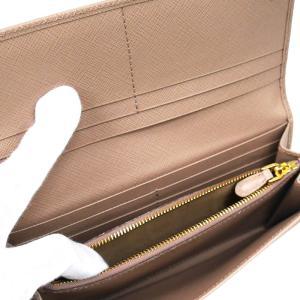 PRADA プラダ 財布サイフ サフィアーノ パスケース付き 二つ折り長財布 ベージュ/ゴールド 1MH132 F0236 PEONIA QHH SAFFIANO TRIANGOLO|at-shop|04
