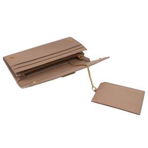 PRADA プラダ 財布サイフ サフィアーノ パスケース付き 二つ折り長財布 ベージュ/ゴールド 1MH132 F0236 PEONIA QHH SAFFIANO TRIANGOLO|at-shop|06