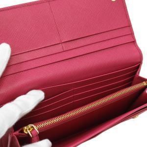 PRADA プラダ 財布サイフ サフィアーノ パスケース付き 二つ折り長財布 ピンク/ゴールド 1MH132 F0505 PEONIA QHH SAFFIANO TRIANGOLO|at-shop|04
