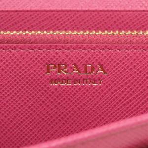 PRADA プラダ 財布サイフ サフィアーノ パスケース付き 二つ折り長財布 ピンク/ゴールド 1MH132 F0505 PEONIA QHH SAFFIANO TRIANGOLO|at-shop|05