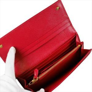 PRADA プラダ 財布サイフ サフィアーノ パスケース付き 二つ折り長財布 レッド/ゴールド 1MH132 F068Z FUOCO QHH SAFFIANO TRIANGOLO|at-shop|04