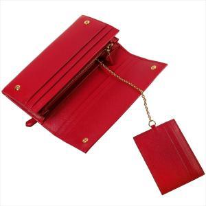 PRADA プラダ 財布サイフ サフィアーノ パスケース付き 二つ折り長財布 レッド/ゴールド 1MH132 F068Z FUOCO QHH SAFFIANO TRIANGOLO|at-shop|05
