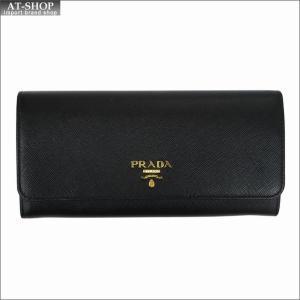 PRADA プラダ 財布サイフ サフィアーノ パスケース付き 二つ折り長財布 ブラック 1MH132  F0002 NERO QWA SAFFIANO METAL ORO|at-shop