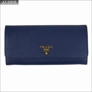 PRADA プラダ 財布サイフ サフィアーノ パスケース付き 二つ折り長財布 ブルー 1MH132 F0016 BLUETTE QWA SAFFIANO METAL ORO|at-shop