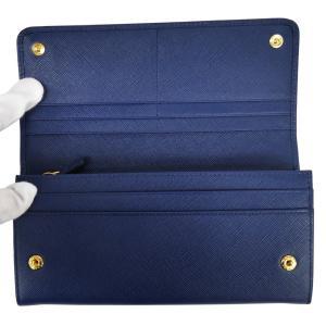 PRADA プラダ 財布サイフ サフィアーノ パスケース付き 二つ折り長財布 ブルー 1MH132 F0016 BLUETTE QWA SAFFIANO METAL ORO|at-shop|03