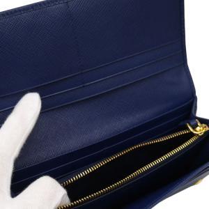 PRADA プラダ 財布サイフ サフィアーノ パスケース付き 二つ折り長財布 ブルー 1MH132 F0016 BLUETTE QWA SAFFIANO METAL ORO|at-shop|05