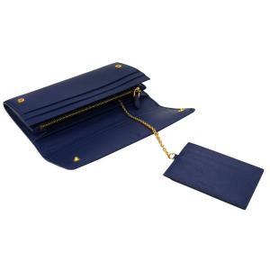 PRADA プラダ 財布サイフ サフィアーノ パスケース付き 二つ折り長財布 ブルー 1MH132 F0016 BLUETTE QWA SAFFIANO METAL ORO|at-shop|07