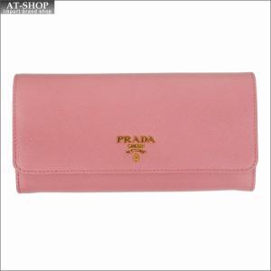 PRADA プラダ 財布サイフ サフィアーノ パスケース付き 二つ折り長財布 ピンク 1MH132 F0442 PETALO QWA SAFFIANO METAL ORO|at-shop