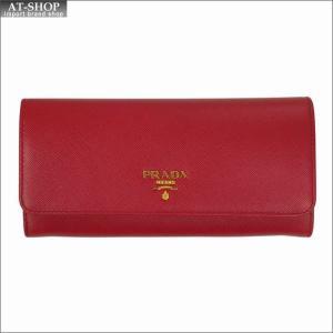 PRADA プラダ 財布サイフ サフィアーノ パスケース付き 二つ折り長財布 レッド 1MH132 F068Z FUOCO QWA SAFFIANO METAL ORO|at-shop