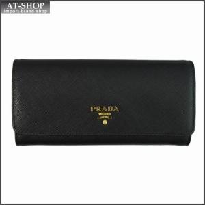 PRADA プラダ 財布サイフ 1MH132 F0002 NERO QWA SAFFIANO METAL ORO パスケース付き二つ折り長財布 ブラック|at-shop