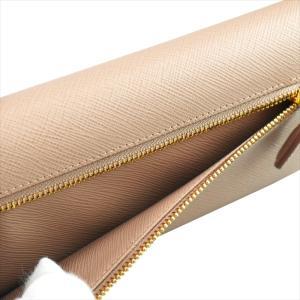 PRADA プラダ 財布サイフ 1MH132 F0770 CAMMEO ZTM SAFFIANO FIOCCO パスケース付き二つ折り長財布 ピンクベージュ|at-shop|03