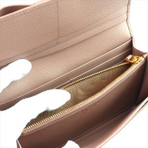 PRADA プラダ 財布サイフ 1MH132 F0770 CAMMEO ZTM SAFFIANO FIOCCO パスケース付き二つ折り長財布 ピンクベージュ|at-shop|05