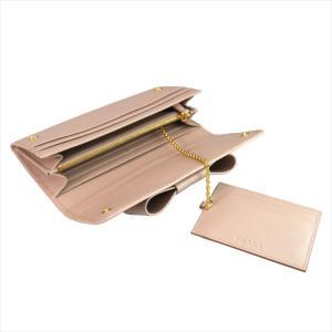 PRADA プラダ 財布サイフ 1MH132 F0770 CAMMEO ZTM SAFFIANO FIOCCO パスケース付き二つ折り長財布 ピンクベージュ|at-shop|06