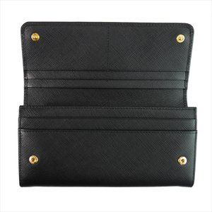 PRADA プラダ 財布サイフ 1MH132 F0002 NERO ZTM SAFFIANO FIOCCO パスケース付き二つ折り長財布 ブラック|at-shop|04