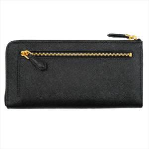 PRADA プラダ 財布サイフ 1ML183 F0002/NERO QWA/SAFFIANO METAL ORO 二つ折り長財布 ブラック|at-shop|02