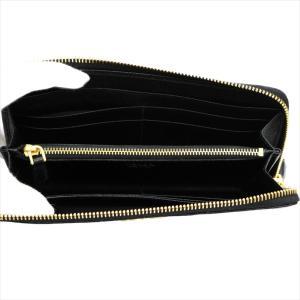 PRADA プラダ 財布サイフ 1ML183 F0002/NERO QWA/SAFFIANO METAL ORO 二つ折り長財布 ブラック|at-shop|03