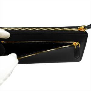 PRADA プラダ 財布サイフ 1ML183 F0002/NERO QWA/SAFFIANO METAL ORO 二つ折り長財布 ブラック|at-shop|04