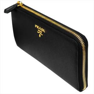 PRADA プラダ 財布サイフ 1ML183 F0002/NERO QWA/SAFFIANO METAL ORO 二つ折り長財布 ブラック|at-shop|05