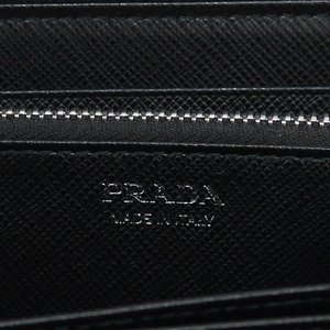 PRADA プラダ 財布サイフ サフィアーノ ラウンドファスナー長財布 ブラック/シルバー 1ML506 F0632 NERO ACCIAIO QHH SAFFIANO TRIANGOLO|at-shop|05