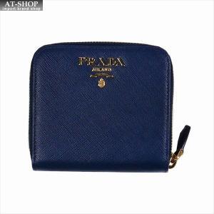 PRADA プラダ 財布サイフ サフィアーノ 二つ折り財布 ブルー/ゴールド 1ML522 F0016 BLUETTE QWA SAFFIANO METAL ORO|at-shop