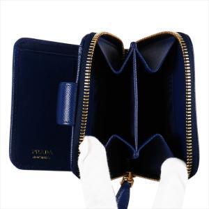 PRADA プラダ 財布サイフ サフィアーノ 二つ折り財布 ブルー/ゴールド 1ML522 F0016 BLUETTE QWA SAFFIANO METAL ORO|at-shop|04