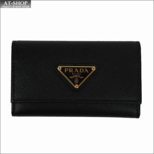 PRADA プラダ キーケース ブラック/ゴールド 1PG222 F0002 NERO QHH SAFFIANO TRIANGOLO|at-shop