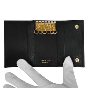 PRADA プラダ キーケース ブラック/ゴールド 1PG222 F0002 NERO QHH SAFFIANO TRIANGOLO|at-shop|02