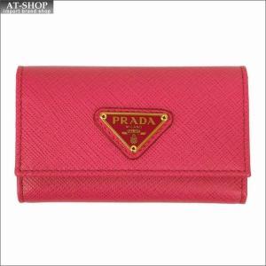 PRADA プラダ キーケース ピンク/ゴールド 1PG222 F0505 PEONIA QHH SAFFIANO TRIANGOLO|at-shop