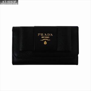 PRADA プラダ キーケース ブラック 1PG222 F0002 NERO QWA SAFFIANO METAL ORO at-shop
