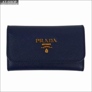 PRADA プラダ キーケース ブルー 1PG222 F0016 BLUETTE QWA SAFFIANO METAL ORO at-shop
