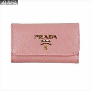 PRADA プラダ キーケース ピンク 1PG222 F0442 PETALO QWA SAFFIANO METAL ORO|at-shop