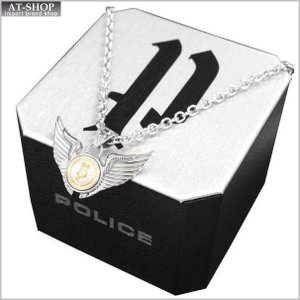 POLICE ポリス ネックレス ステンレス シルバー POLICE N DOUBLE WINGS GD 20733PSG02 at-shop