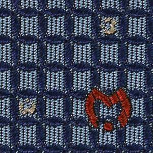 Mila schon ミラショーン ネクタイ 9cm ブルー系 21404color2|at-shop|04