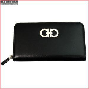 FERRAGAMO フェラガモ 財布サイフ ラウンドファスナー長財布 22-B300-474144 NERO ブラック|at-shop