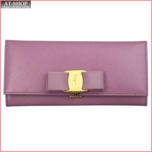 FERRAGAMO フェラガモ 財布サイフ 二つ折り長財布 22-B559-600242 LILA ライトパープル|at-shop