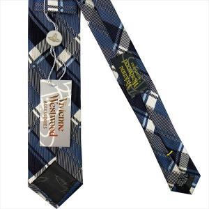 Vivienne Westwood ヴィヴィアン・ウェストウッド ネクタイ スリム約7cm チェック柄 ブルー系 24T70-P50colo5slim|at-shop|03