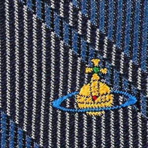 Vivienne Westwood ヴィヴィアン・ウェストウッド ネクタイ スリム約7cm チェック柄 ブルー系 24T70-P50colo5slim|at-shop|04