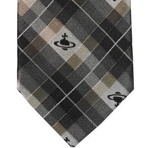 Vivienne Westwood ヴィヴィアン・ウェストウッド ネクタイ 8.5cm チェック柄 ブラック×グレー×ブラウン系 24T85-P19color1|at-shop|02