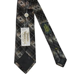 Vivienne Westwood ヴィヴィアン・ウェストウッド ネクタイ 8.5cm チェック柄 ブラック×グレー×ブラウン系 24T85-P19color1|at-shop|03