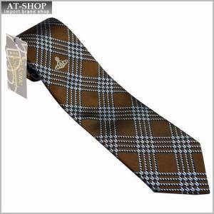Vivienne Westwood ヴィヴィアン・ウェストウッド ネクタイ 8.5cm ブラウン×ブルーネイビー系 24T85-P38color1|at-shop