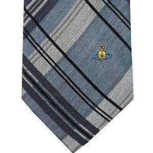 Vivienne Westwood ヴィヴィアン・ウェストウッド ネクタイ 8.5cm チェック柄 ブルー系 24T85-P42color5|at-shop|02